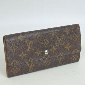 Auth Louis Vuitton Wallet #475L1087